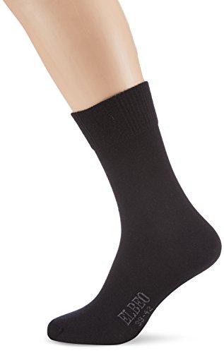 ELBEO Herren Sensitive Classic Wo Socken, Schwarz (schwarz 9500), 43-46 (II)