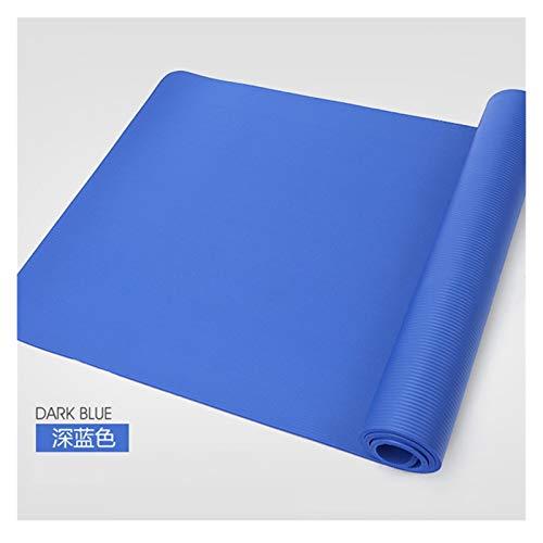 MeiZi 183 * 61 * 1,5 cm Yoga-Matten mit Körperlinie Dicke heiße Yoga Pilates Gymnastik Matten Balance Pad Fitness rutschfeste Folding-Trainingsmatte (Color : Blue 1)