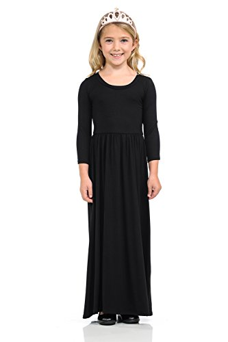 Pastel by Vivienne Honey Vanilla Girls' Fit and Flare Maxi Dress Small 5-6 Years Black