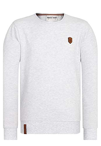 Naketano Male Sweatshirt Al K.Ohol Amazing Grey Melange, L
