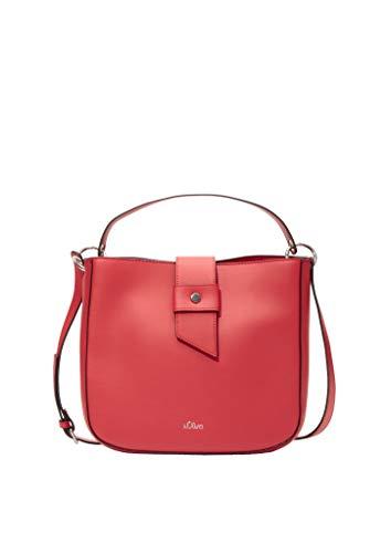 s.Oliver Damen Hobo Bag mit Riegel-Detail red 1