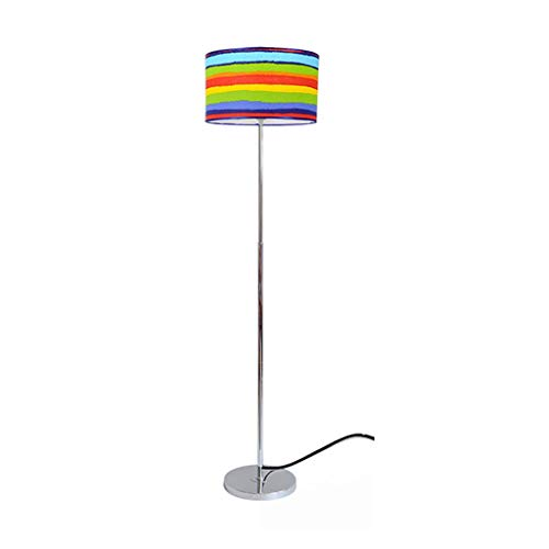 Lámpara de Pie Lámpara de pie con la luz de la tela de la lectura de la sombra de la tela for la sala de estar, el dormitorio con el interruptor de pie se levanta la lámpara lámpara de lectura
