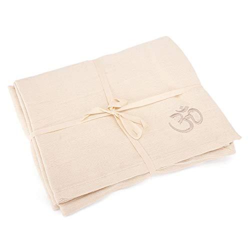 Bodhi Yogadecke SHAVASANA,100% Baumwolle, Tagesdecke, Sofadecke (natur-weiß)