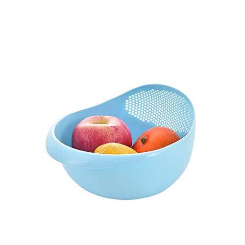 Yuxahiugsz Fourchettes de Table Silicone Colander Riz Bol Coller Panier Bol Fruit Bol à Laver Panier de vidange avec poignée Basket Panier Organisateur de Cuisine (Color : A)