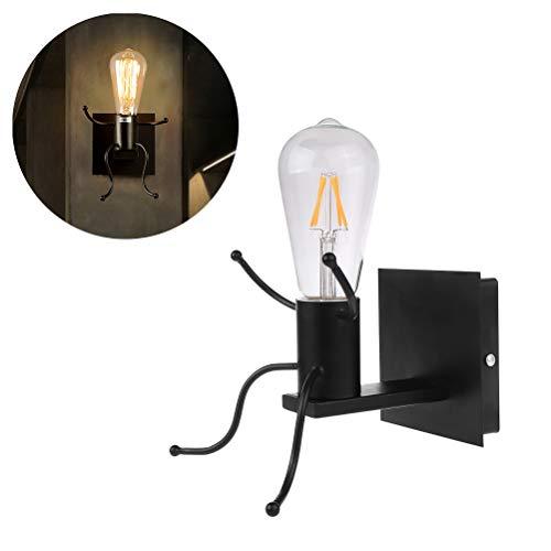 Weesey Led-bedlamp, wijnoogst-wand-licht industrieel retro-wandlampen, creatieve kleine wandlampen, wandlamp voor binnen