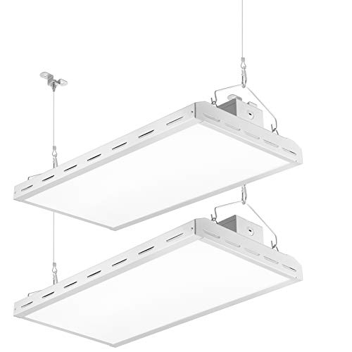 Lightdot 2 Pack LED High Bay Shop Light, 2FT 150W 18000LM(500W HPS Eqv.), 5000K Daylight Linear Hanging Light for Warehouse Workshop Supermarket - ETL&DLC Listed (Non-dimmable)