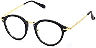 Korean Fashion Lovely Unisex Eyewear Horn Rimmed Clear Lens Glasses,Black Frame