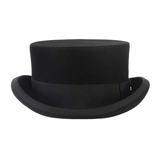 CHENGWJ Fedoras Cap mannen wolvilt hoed voor mannen/vrouwen nieuwe cilinder hoed topper mad hatter party kostuum derby cilinder