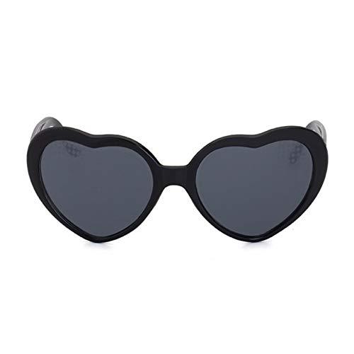 Tongdejing Herz-Effekt-Beugungsbrille, herzförmige Spezialeffekt-Brille für Raves, Musikfestivals, Nachtclub für Musikpartys im Freien
