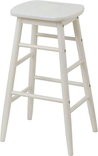 市場 ハイスツール ine reno 幅34x奥行34x高さ60cm ホワイト 天然木使用 INS-2824WH