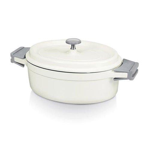 Beka 13392274 Cook On Cocotte ovale + Couvercle en fonte d'aluminium ivoire 26 cm