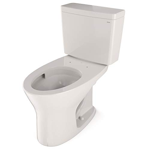 TOTO CST746CSMFG#11 Drake Two-Piece Elongated Dual Flush 1.6 and 0.8 GPF Universal Height DYNAMAX TORNADO FLUSH Toilet with CEFIONTECT, Colonial White