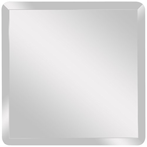 "Spancraft Glass Square Beveled Mirror, 30"" x 30"""