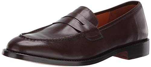 Carlos by Carlos Santana Men's Crucero Penny Loafer, Mocha Full Grain Calfskin Leather, 10.5 D US