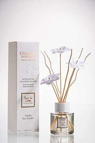 Collines de Provence Bouquet Aromatique 200ml Fleur de Coton, Transparent 8,2 cm x 8,2 cm x 31 cm
