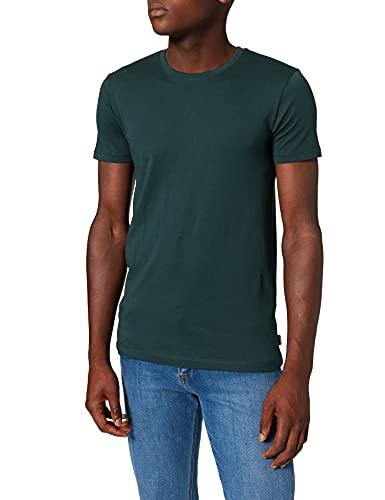 ESPRIT Herren Rundhals Basic T-Shirt, 455/TEAL BLUE - New Version, L