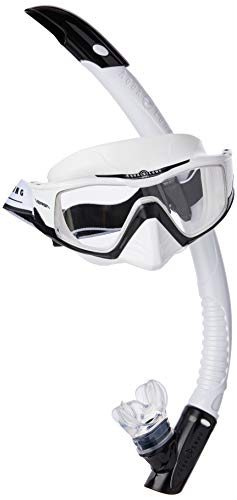 Aqua Lung Sport Versa Set mit Maske und Schnorchel, weiß & schwarz/klare Linse, L