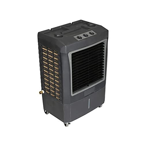 Hessaire MC37V 950 Square Foot Indoor/Outdoor Portable 3,100 CRM 3 Speed 10.7 Gallon Evaporative Cooler Humidifier with Continuous Auto Fill, Gray