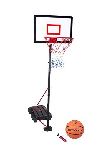 Dunlop 22873–Kinder-Basketballset mit Pumpe und Ball, Schwarz