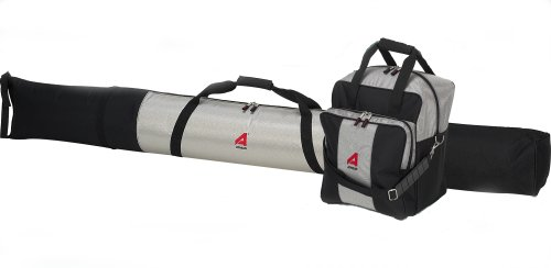 Athalon Deluxe #135 Two-Piece Ski and Boot Bag Combo Boxed, (Silver/Black, 185 cm)