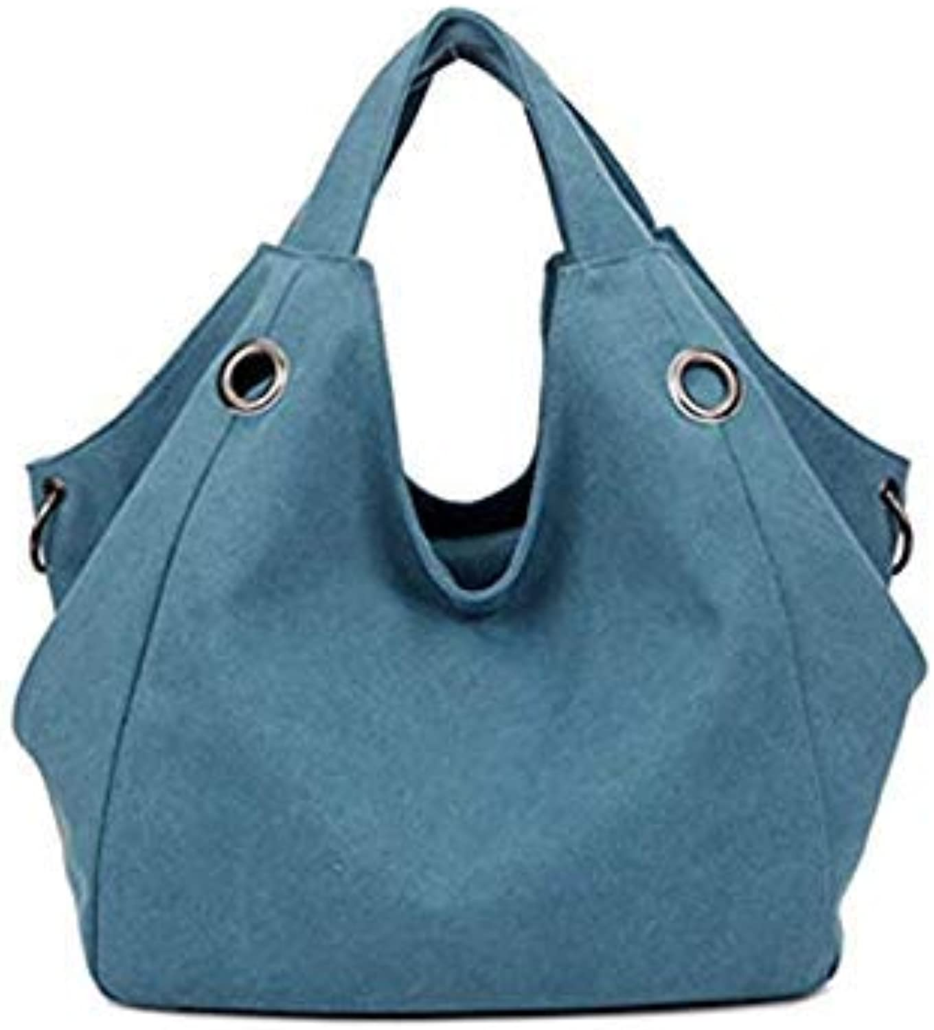 Bloomerang Top-Handle Bags Women Shoulder Bag Canvas Large Capacity Handbag for Ladies Female Big Tote Fashion Casual Handbag Women Bag color blueee 35CM