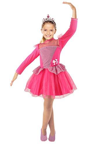 Ciao - Barbie Princesa Bailarina Disfraz de nia original (Talla 4-5 aos), Rosa, 11660.4-5
