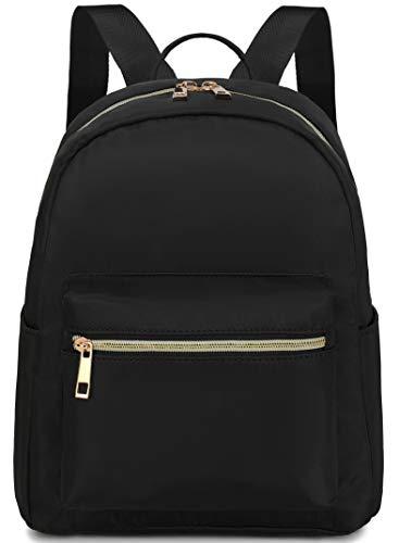 Mini Backpack Girls Womens Fashion Small Backpack Purse Mini Bookbag for Teens Adult Kids School Travel Daypack Black