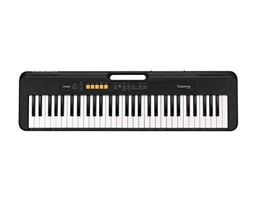 Casio CT-S100AD 61 Key Slimline and Super compact Portable Electronic Keyboard in Black with AC Adapter Included Black one size