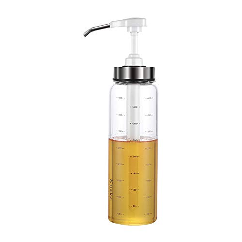 Didatecar Gewürzflaschen, Saucen- und Sirupflasche, Glasflasche, Saucenflasche, geeignet für selbstgemachte Soßen, Ketchup, Salatdressing, Barbecue-Sauce weiß