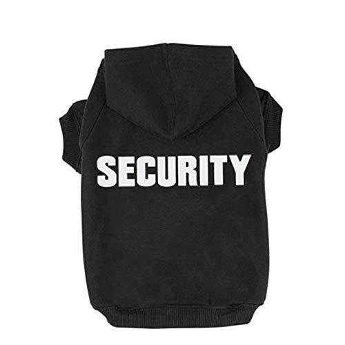 Trudz PET Hunde Kapuzenpulli Security Rdc Pet Bekleidung Hunde Shirt Wärmer Pullover Baumwoll Jackett Mantel Kleiner Hund Mittlerer Hund (Schwarz,M)