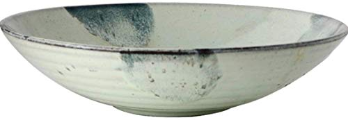 ZHEYANG Platos Llanos Platos Hondos Tazón de cerámica Japonesa Ramen tazón Grande Retro del hogar Vegetal Ensaladera Recipiente Poco Profundo Plato de Sopa tazón de Sopa