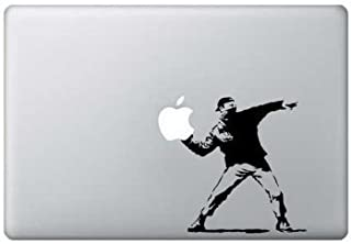 South Coast Stickers BANSKY THROWS LAPTOP STICKER IPAD TABLET APPLE FUNNY VINYL GRAPHIC DECAL