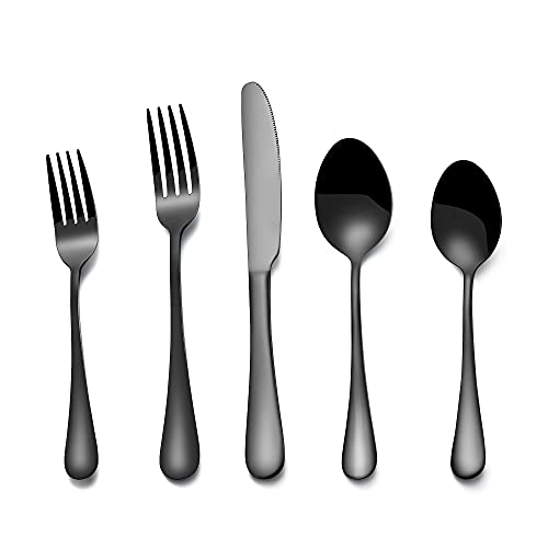 Silverware Flatware Cultery Set, 20-piece Stainless Steel Tableware Eating Utensil Set for 4, Include Spoons Forks Knives, Mirror finish, Dishwasher...