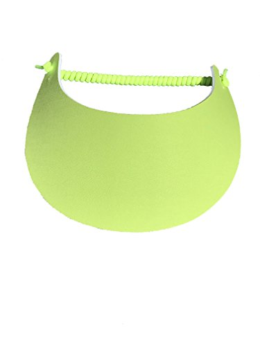 Pickleball - Fashion Fabric Foam Sun Visor For Women -The Sporty Look - Adjustable To Any Size Head - No Pressure & No Headache! | Chartreuse Design