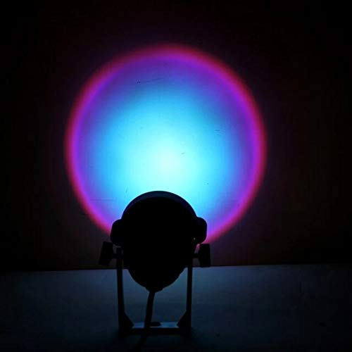 Fancy Combs Rainbow Sunset Ambient Lamps Colorful Room Wall Projection Background Light Rainbow Sunset Projectior Lamp Atmosphere Night Lightus Plug