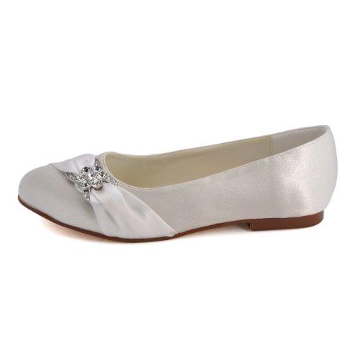 Bequeme flache Brautschuhe Ballerinas   Ivory - 2