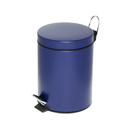 Alco-Albert 2960-15 Tretabfalleimer 5 L, Durchmesser: 20,5x28,5 cm, mit Kunststoffeinsatz, blau