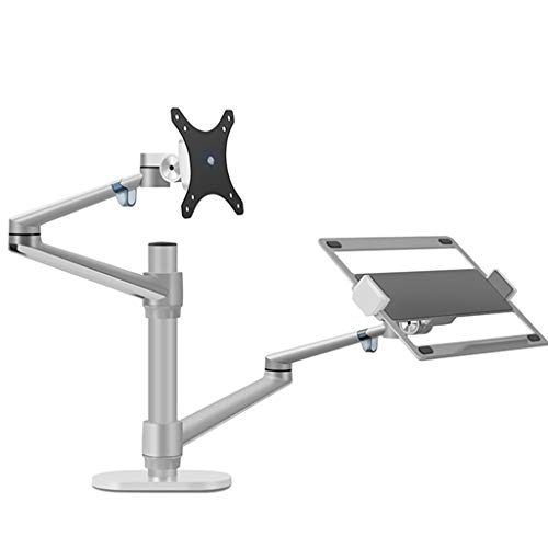 Laptop Stand Computer Laptop Holder Monitor Desktop Combination Shelf Dual Screen Office Desktop Holder Vertical Lifting Bracket Suitable For Notebooks Of 12-17 Inches And Displays Within 32 Inches