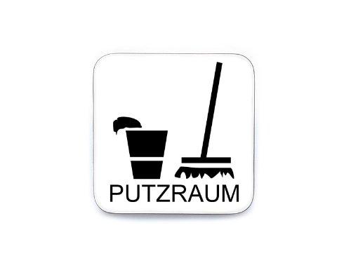 Interluxe Schild Piktogramm Türschild Hinweisschild PUTZRAUM Besenkammer Holzschild