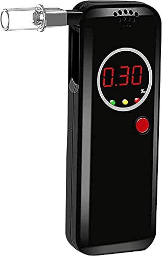 iPatio Alcootest Electronique Ethylotest Numérique,Alcoomètre et testeur d'alcoolémie Portable avec Ecran LCD d'Affichage,Alcotest Haute Sensibilit avec 12 Embouchures
