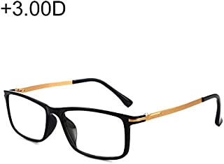 WTYD Clothing and Outdoor Accessories Black Frame Spring Hinge Anti Fatigue & Blue-ray Presbyopic Glasses, 3.00D Outdoor Equipment