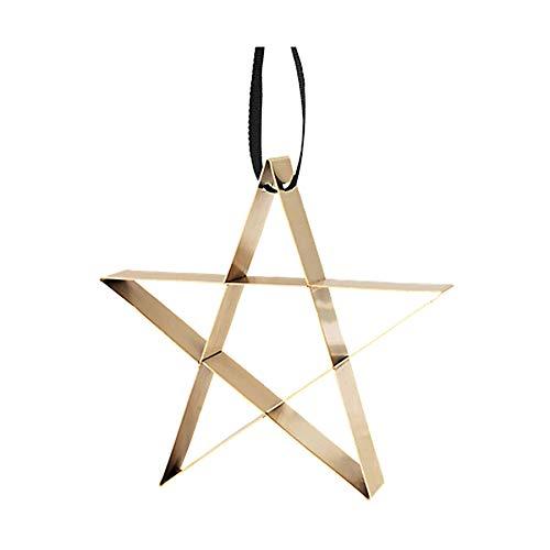 Stelton - Figura - Ornament - Stern - Stahl mit Messingüberzug - groß - W:12,4cm x H:11,8 cm x Ø :2,7cm