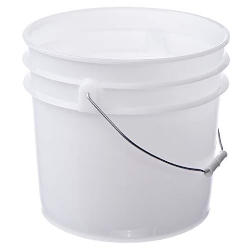 Letica Premium 3.5 Gallon Bucket, HDPE, Natural, 1 Pack