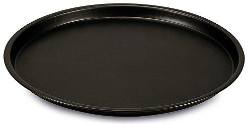 Guardini Pizza&Mania, Plaque à Pizza 28 cm, Acier avec revêtement anti-adhérent, couleur noire