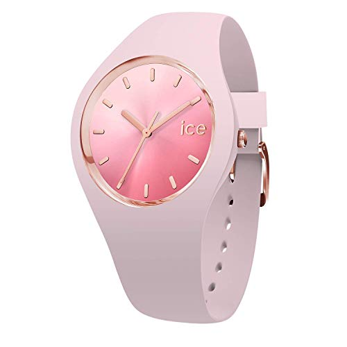 Ice-Watch - ICE sunset Pink - Rosa Damenuhr mit Silikonarmband - 015747 (Medium)