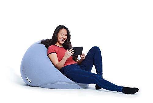 Yogibo Pod X Small Bean Bag for Teens, Adults, Plush, Soft, Single Beanbag Chair, Measures 3'x3', Rain