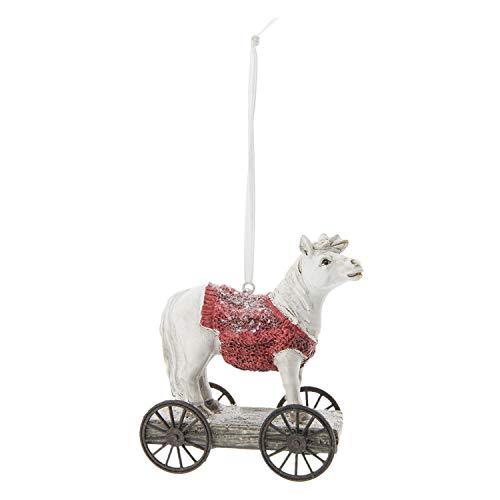 Clayre & Eef 6PR2413 paard op wielen ca. 9 x 5 x 10 cm.