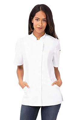 Chef Works Women's Roxby Chef Coat, White, X-Small