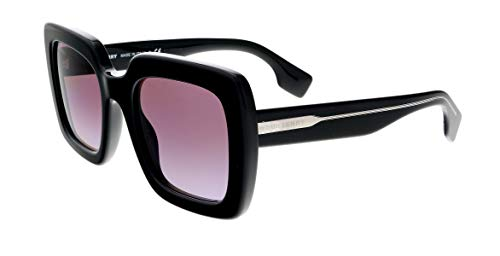 BURBERRY Gafas de Sol STRIPED CHECK BE 4284 BLACK/VIOLET SHADED 52/22/140 mujer