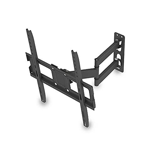 Movemoot Soporte para TV, inclinable, giratorio, totalmente movible para televisores planos y curvos de 32 a 65 pulgadas, soporta hasta 35 kg, VESA 400 x 400 mm/arriba y abajo -10 ~ 10 °